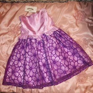 NWT Purple Floral Formal Dress Gymboree 12-18M